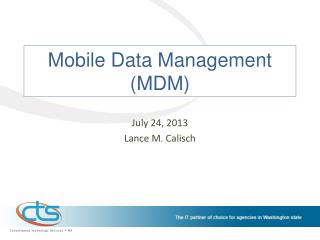 Mobile Data Management (MDM)