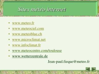 Sites météo internet