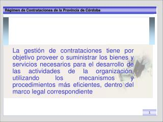 Basamento legal del Régimen de contrataciones