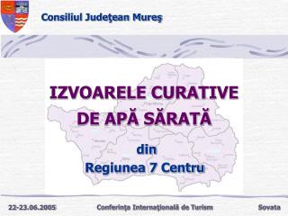 IZVOARELE CURATIVE DE APĂ SĂRATĂ