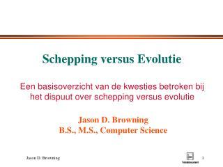 Schepping versus Evolutie