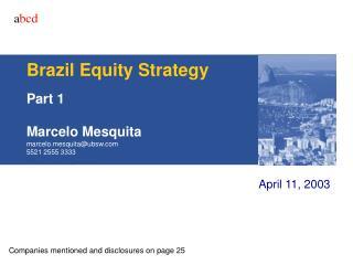 Brazil Equity Strategy