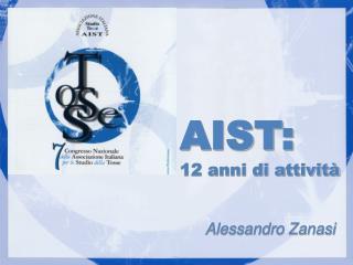 12 anni di attivit          Alessandro Zanasi