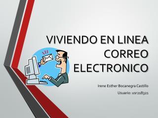 VIVIENDO EN LINEA  CORREO ELECTRONICO