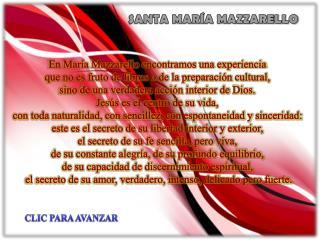 SANTA MARÍA MAZZARELLO