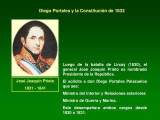 Diego Portales y la Constituci n de 1833