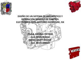 PAULA ANDREA ORTEGA Cod . 20101283034 DIEGO ARLEY VELOSA Cod . 20101283023