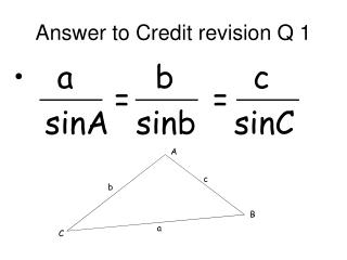 Answer to Credit revision Q 1