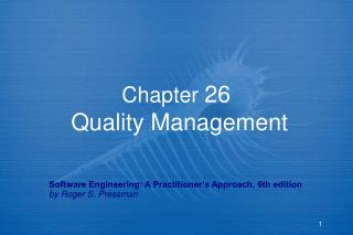 Chapter 26  Quality Management