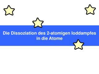 Die Dissoziation des 2-atomigen Ioddampfes in die Atome
