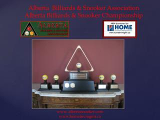 Alberta   Billiards &  Snooker Association Alberta Billiards &  Snooker Championship