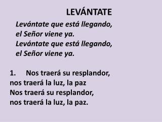 LEVÁNTATE