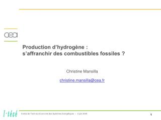 Production d'hydrogène :  s'affranchir des combustibles fossiles ?