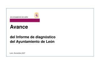 Avance del Informe de diagnóstico del Ayuntamiento de León