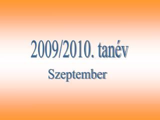 2009/2010. tanév