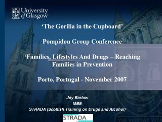 The Gorilla in the Cupboard   Pompidou Group Conference   Families, Lifestyles And Drugs   Reaching Families in Prevent