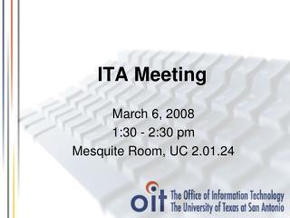ITA Meeting