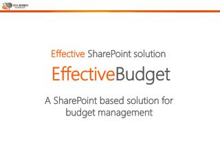 A SharePoint based solution for budget management