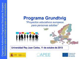 "Programa Grundtvig ""Proyectos educativos europeos  para personas adultas"""