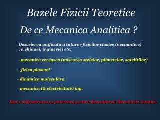 Bazele Fizicii Teoretice