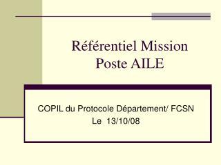R f rentiel Mission  Poste AILE