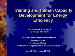 Training and Human Capacity Development for Energy Efficiency