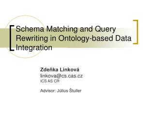 Schema Matching  a nd Query Rewriting in Ontology-based Data Integration