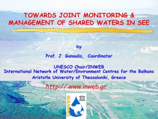 TOWARDS JOINT MONITORING & MANAGEMENT OF SHARED WATERS IN SEE