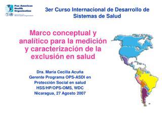 3er Curso Internacional de Desarrollo de Sistemas de Salud