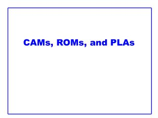 CAMs, ROMs, and PLAs