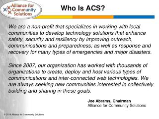 Who Is ACS?