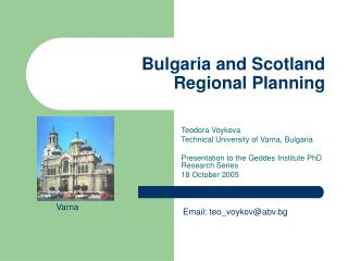Bulgaria and Scotland Regional Planning