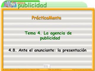 Tema 4. La agencia de publicidad