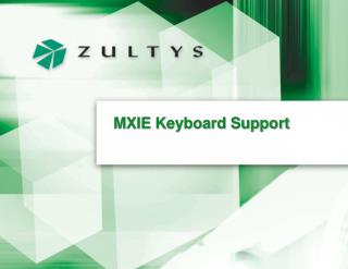 MXIE Keyboard Support
