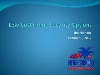 Low Cost Home Security Options