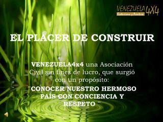 EL PLACER DE CONSTRUIR