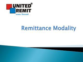 Remittance Modality