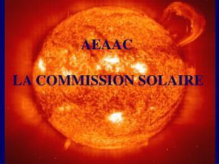 LA COMMISSION SOLAIRE