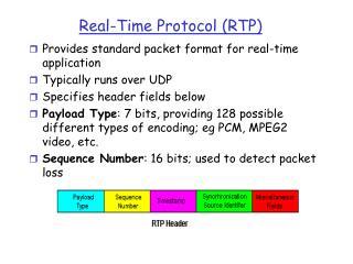 Real-Time Protocol RTP