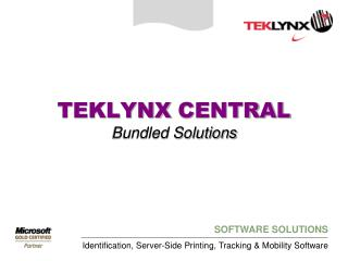TEKLYNX  CENTRAL Bundled Solutions
