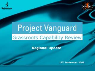 Regional Update 19 th  September 2009