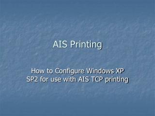 AIS Printing