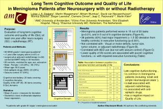Table : Association between cognition (i.e. executive function) and quality of life