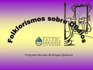 Programa Nacional de Riesgos Químicos