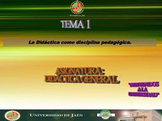 La Didáctica como disciplina pedagógica.
