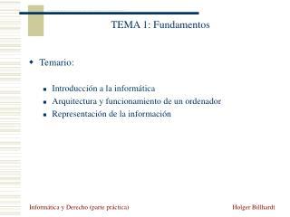 TEMA 1: Fundamentos