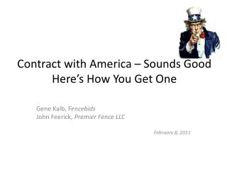 Contract with America – Sounds Good Here's How You Get One