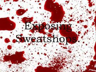 Exposing Sweatshops.