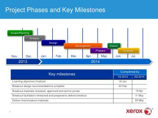 Project Phases and Key Milestones