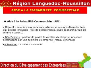  Aide à la Faisabilité Commerciale : AFC
